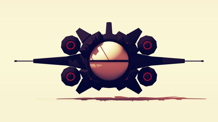 Black Dove Space Fighter front facing