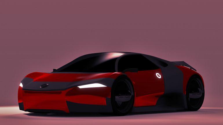 Osmium Futuristic Electric Car Front View