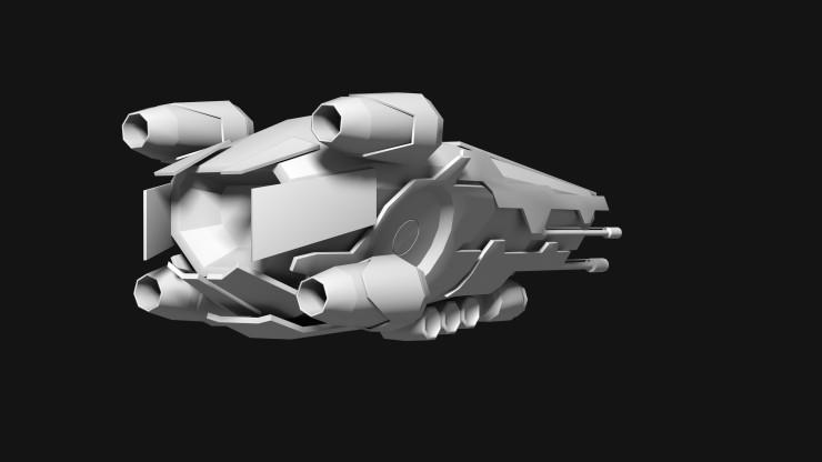 Black Saber fighter concept rear