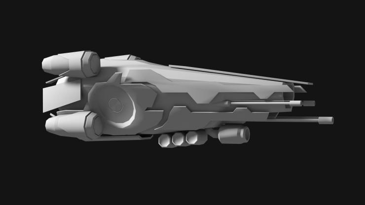 Black Saber fighter concept side
