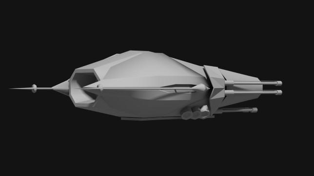 ENTROPY Fighter Concept Rear