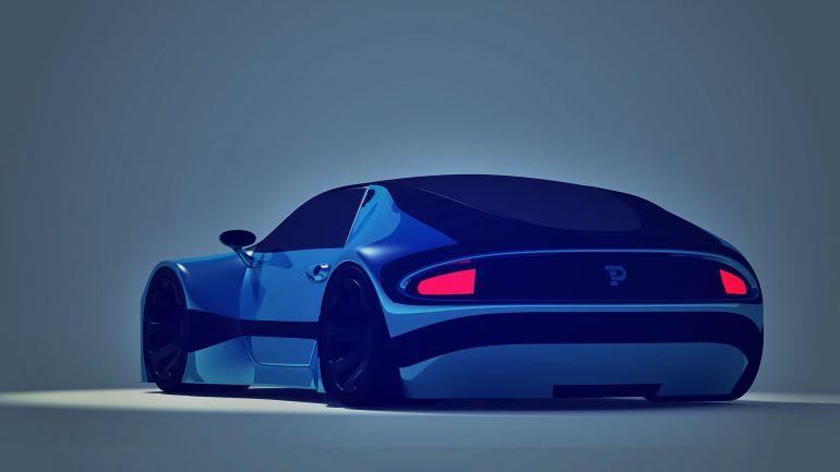 Pondurant Electric Car Future Concept Rear