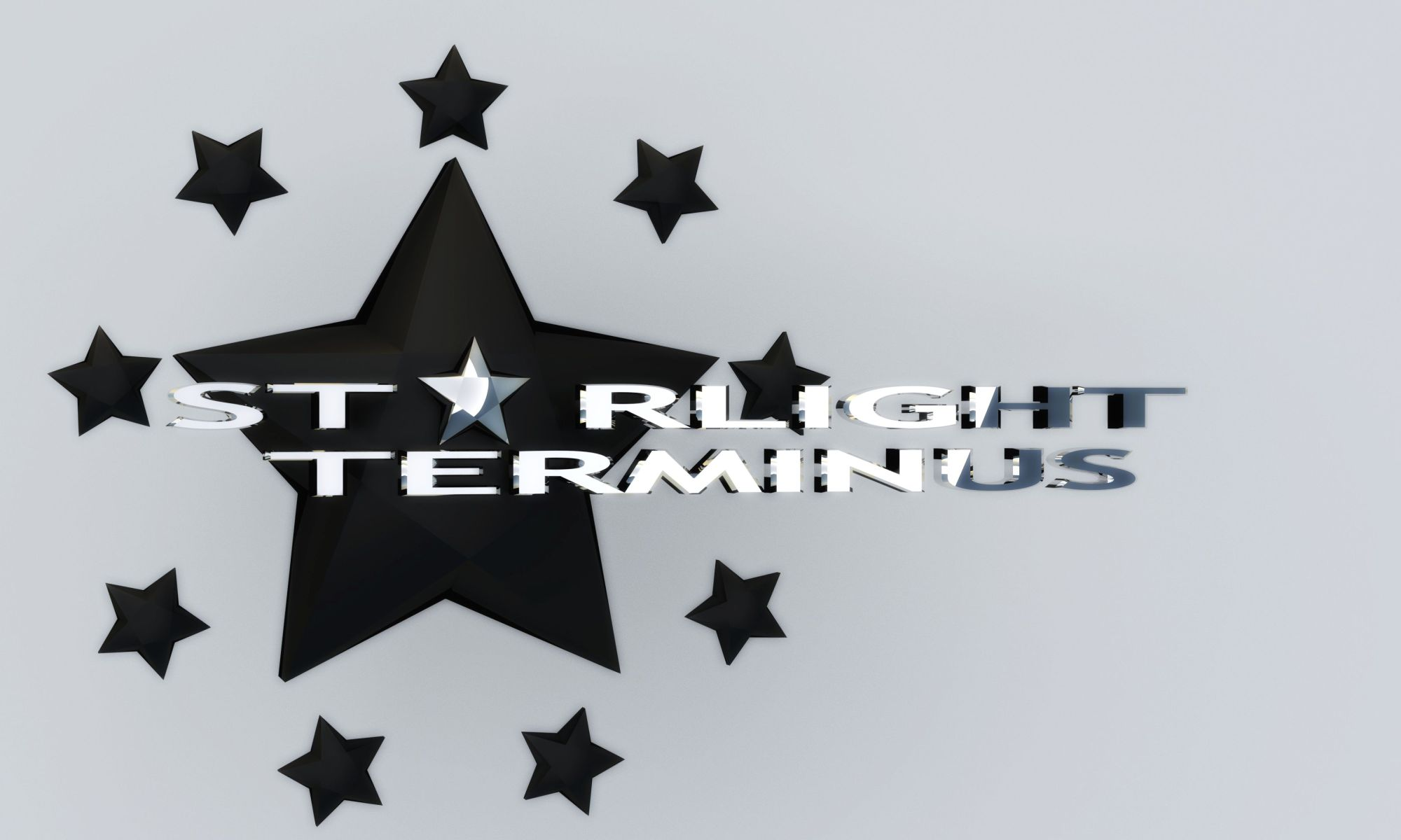 StarLight Terminus Star Logo Black and White