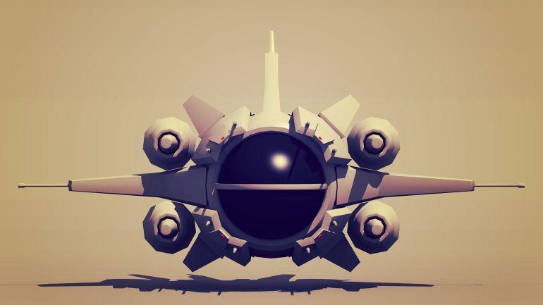 White Dove Poster space fighter