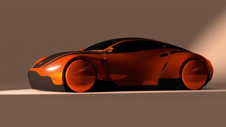 Myzer futuristic car