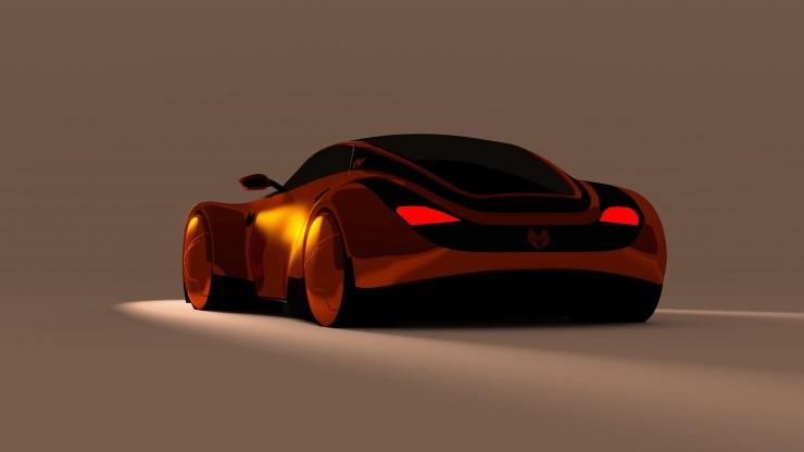 Myzer futuristic car rear