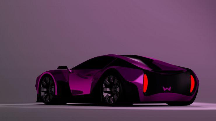 Weisson futuristic car rear