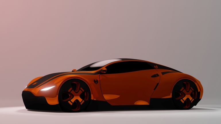 Full Render of concept vehicle for the game SkyTec Racing