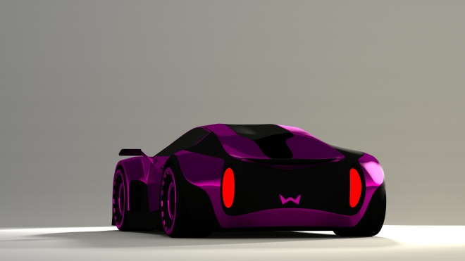 Concept Car Rendered in blender3d
