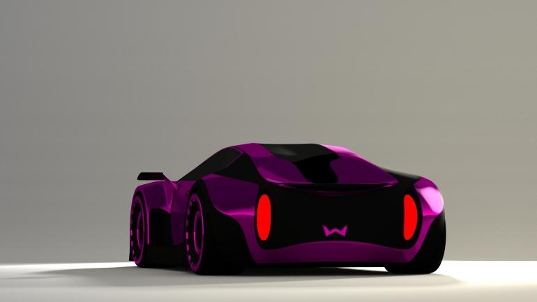 Concept Car Rendered in blender3d